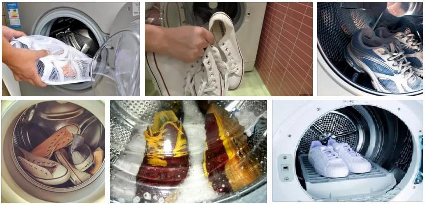 стирка кроссовок в стиральной машинке