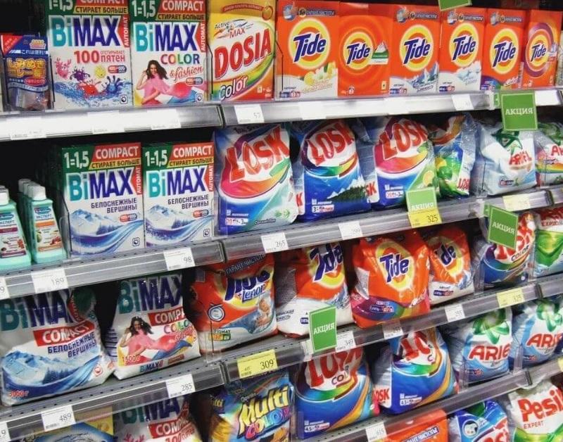 список ингредиентов стирального порошка