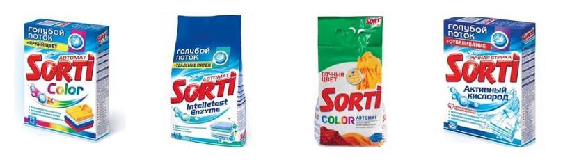 Состав стирального порошка SORTI