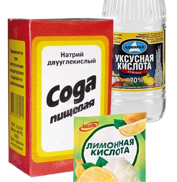сода и лимонная кислота для защиты стиральной машины от накипи