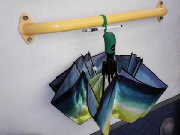 как сушить зонтик