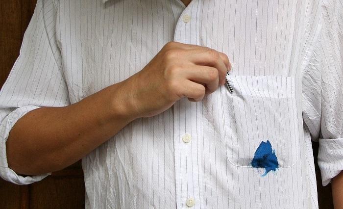 как отстирать чернила с рубашки