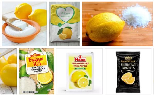 лимонная кислота от извескового налета
